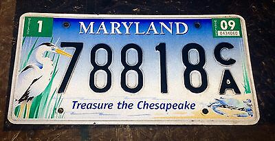 Maryland License Plate Tag 78818 C/a Classic Md Treasure The Chesapeake