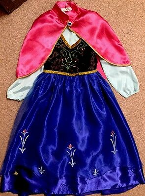 "Disney ""Frozen"" Anna's Winter Fancy Dress With Cape Size 7-8 Years"
