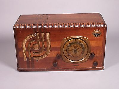 "Antique Pacific Radio Corp Model 40MC-1 ""General"" Radio with Tuning Eye - Works"