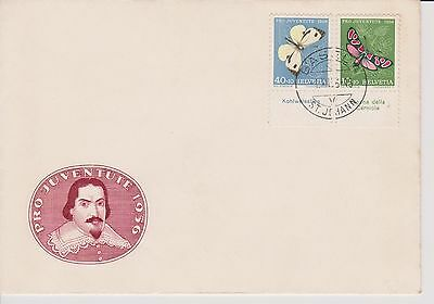Switzerland Stamps 1956 Pro Juventute - Butterflies - Butterfly stamps