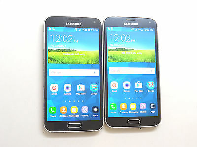 Lot of 2 Samsung Galaxy S5 SM-G900T1 MetroPCS Smartphones Good LCD AS-IS GSM !
