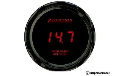 Zeitronix Zt-3 & ZR-3 Wideband Gauge with Data Logging (RED Digits / Black Beze)