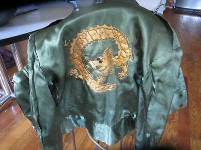 Vintage silk embroidered Chinese military style jacket