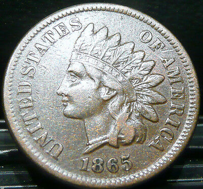 """1865 Indian Head Cent       Very Nice Circulated  Penny   ***Solid  """"Liberty"""""""