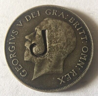 1922 Great Britain One Shilling ~ Stamped ~ Silver
