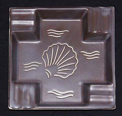 Poole Pottery Ashtray, Large, Unusual Beach Design Incised, Very Good Condition