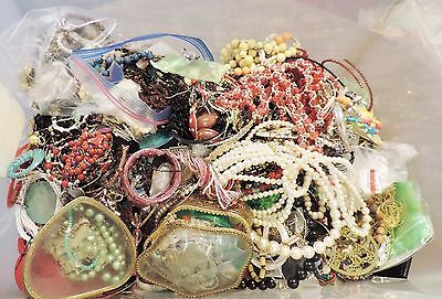 New-Vintage/Now Junk Jewelry Lot 40LBS. Wear, Repair, Craft