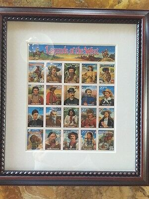New Legends Of The West Framed Stamp Collection