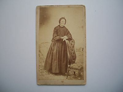 Antique Photo CDV by Helene Fortin Quebec Canada Old Woman 1860's