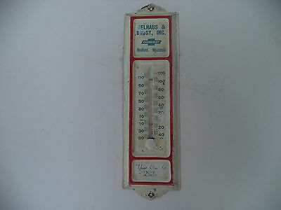 Old Vintage Gelhaus & Brost,inc. Chevrolet Thermometer Sign  Medford , Wisconsin