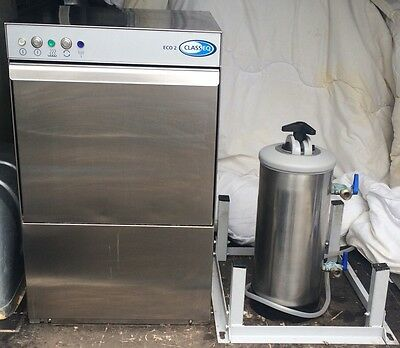 Classeq Eco 2 Commercial Glass Washer/Bar Restaurant glasswasher. Little used