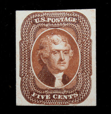 U.S. Scott # 12 5c Jeffersone Proof