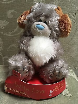 "ME TO YOU TATTY TEDDY WITH LOVE ""REINDEER EAR MUFFS"" BEAR 6 Inches"