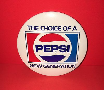 "Pepsi "" The Choice Of A New Generation"" 3"" Pinback Button"