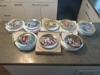 Disney Mouse Mickey's Christmas Carol Limited Edition Collector's Plate #1 to #8