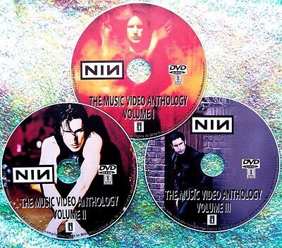 Button & FREE NINE INCH NAILS Music Video Collection 89-2016 3 DVD Set 50 Videos