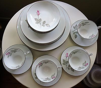 Lovely Vintage Zylstra Japan Fine China Dinner Set for 4 + Extras *Zylstra Rose