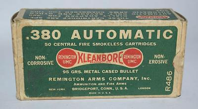 Vintage Remington Arms Co. Kleanbore 380 Automatic - Fifty Round Ammo Box