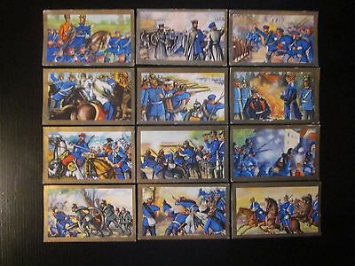 12 original German cig. cards of Germany's Wars of Unification (19th C.), 1934