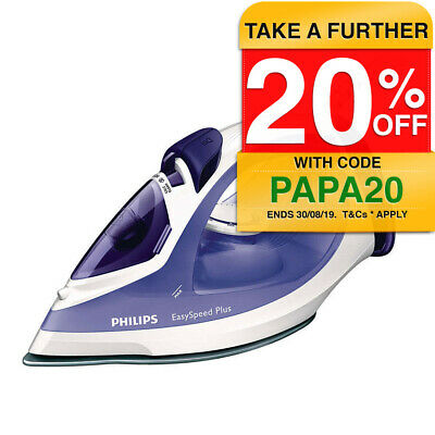 Philips GC2048 Steam Iron Non-stick 2300W/Clothes/Garment Ironing/Self Cleaning