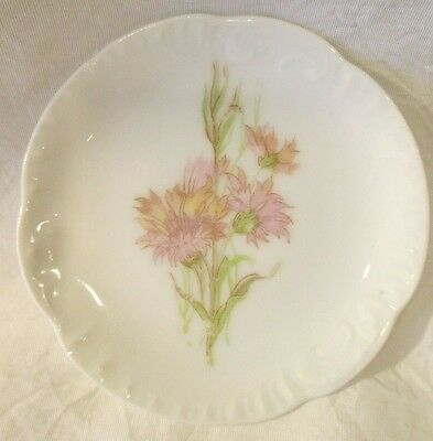 VINTAGE 1940-50's CARLSBAD AUSTRIA BUTTER PAT ~ PRETTY & DELICATE PINK ASTER
