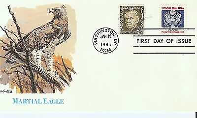 Scott #O128 - Official Mail FDC -  $.04 stamp - Jan 12, 1983
