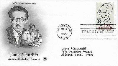 Scott #2862 - James Thurber FDC