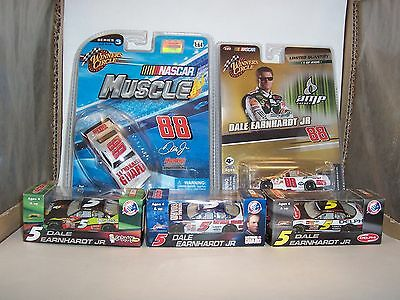 Lot Of 5 Rare Dale Earnhardt Jr 1/64 = 2 Winner's Circle + 3 Action Must See!