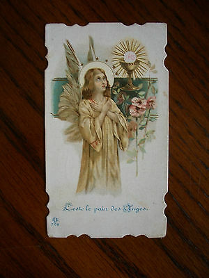 Antique Holy Card of Guardian Angel no.708 *smaller size*