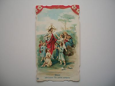Antique Holy Card of Jesus Blessing Childrens no.98