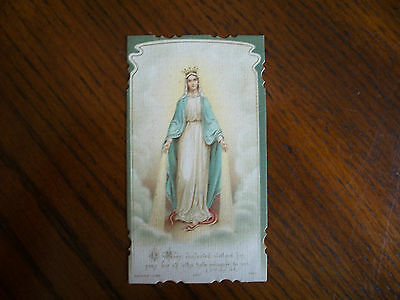 Antique Holy Card Virgin Mary / Immaculate Conception Bouasse no.1319