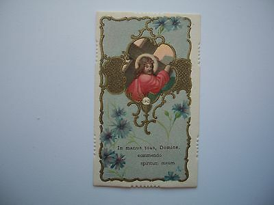 Antique Holy Card Jesus / Christ Carrying the Cross Cross no.0-82 *smaller size*