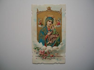 Antique Holy Card of Virgin Mary / Our Lady of Perpetual Help