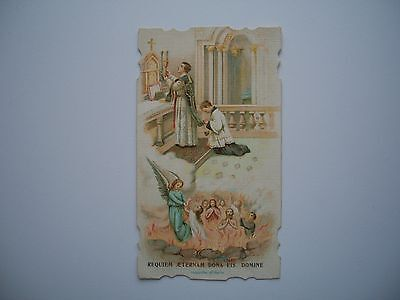 Antique Holy Card Mass for the Death with Pit of Hell