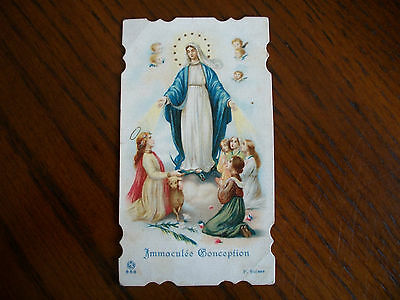 Antique Holy Card Virgin Mary Immaculate Concpetion no.658  *smaller size*