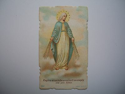Antique Holy Card of Virgin Mary no.5063 *smaller size*