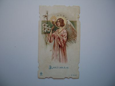 Antique Holy Card Pink Angel with Chalice  no.707 *smaller size*