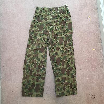 Original WWII US Army Frogskin Normandy Camo Trousers