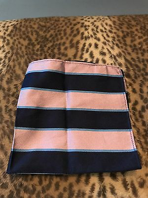 Mens 100% Silk Rugby & Co by Ralph Lauren Pocket Square