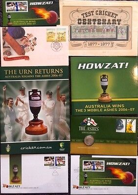 Ashes Cricket Stamp Lot