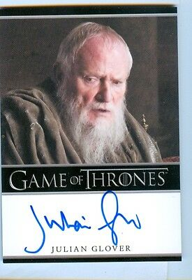 Julian Glover as Grand Maester Pycelle Auto Card - Game of Thrones Season 6