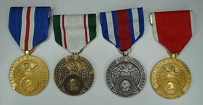 Set of four Washington State Air National Guard Service medals
