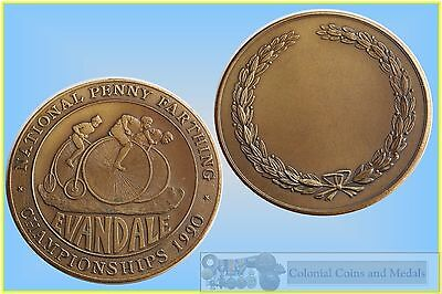 1990 National Penny Farthing Championships Evandale NSW.  Bronze Prize Medal