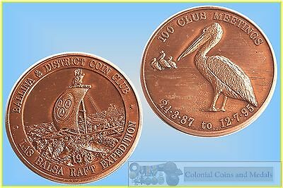 1995 Ballina & District Coin Club '100 Meetings' Commemorative in Bronze