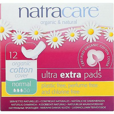 UNFI-1600071-Natracare Ultra Extra Pads w/wings - Normal -  12 Count