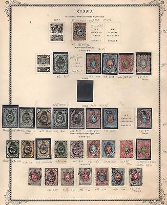 Russia 1857-1879 Stamps Of Old Russia