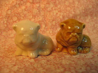 -Wade Fest 2006 Pair of Honey and White Bulldogs, MINT, FREE POST