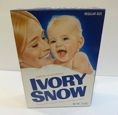 "Vintage ** Original Marilyn Chambers Ivory Snow 13 Oz. Detergent Box "" FULL """