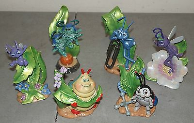 "LOT OF 6  DISNEY Sri Lanka ""A BUGS LIFE"" Porcelain FIGURES Statues"