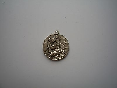 Antique Saint Christopher / Pope Pius VI Silver Medal
